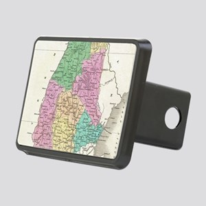 Vintage Map of New Hampshi Rectangular Hitch Cover