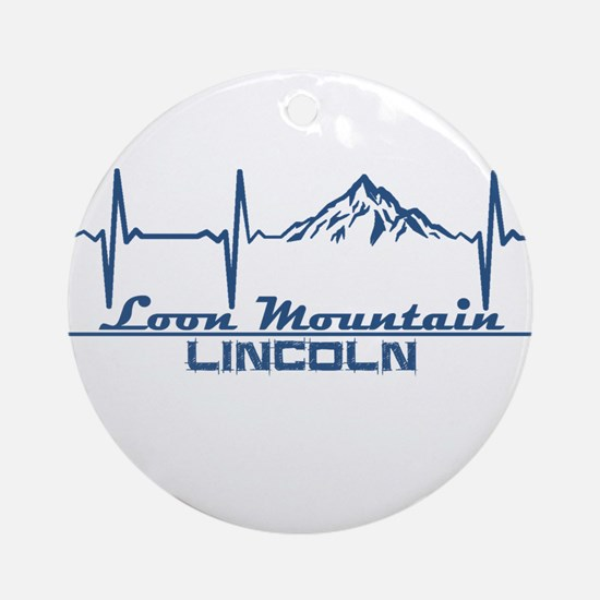 Loon Mountain - Lincoln - New Ham Round Ornament