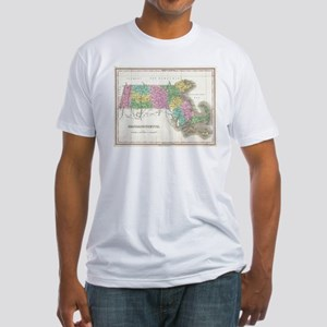 Vintage Map of Massachusetts (1827) T-Shirt