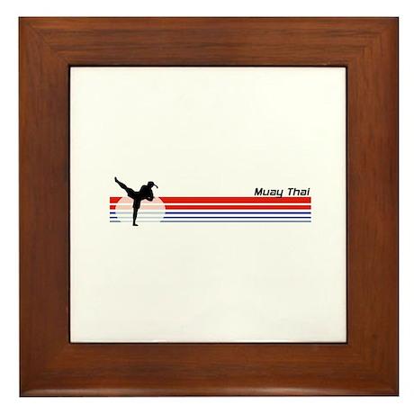 Muay Thai Framed Tile