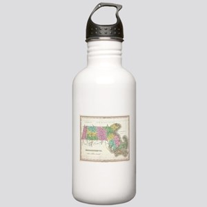 Vintage Map of Massach Stainless Water Bottle 1.0L