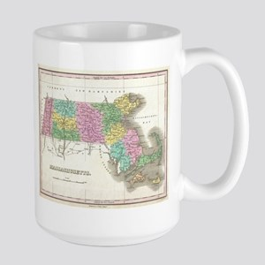 Vintage Map of Massachusetts (1827) Mugs