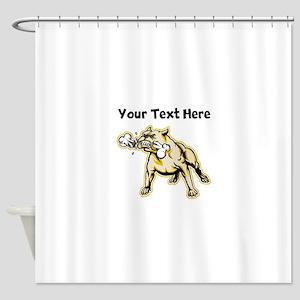Bulldog With Bone Shower Curtain