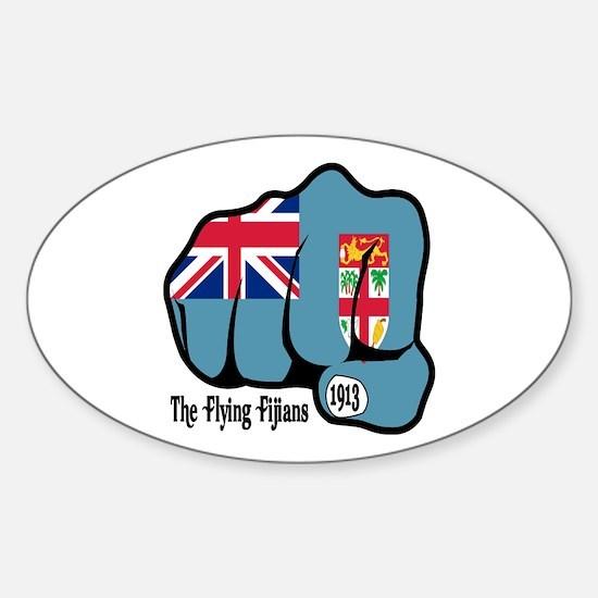 Fijian Fist 1913 Oval Decal