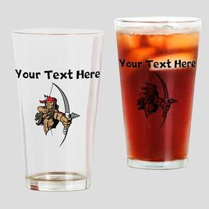 Native American Warrior Drinking Glass