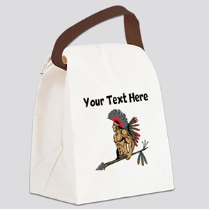 Native American Warrior Canvas Lunch Bag