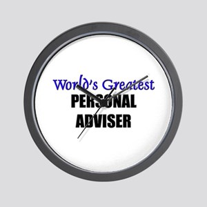 Worlds Greatest PERSONAL ADVISER Wall Clock