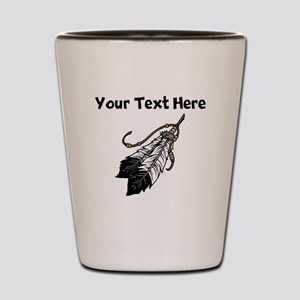 Native American Feathers Shot Glass
