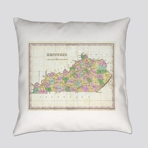 Vintage Map of Kentucky (1827) Everyday Pillow