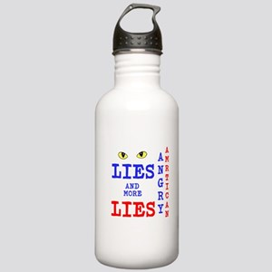 Angry American Lies and More Lies Water Bottle