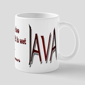Coffee has two virtues: Mug