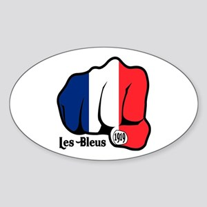 French Fist 1919 Oval Sticker