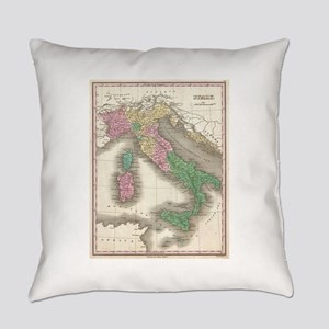Vintage Map of Italy (1827) Everyday Pillow