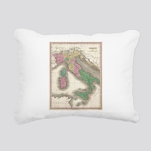 Vintage Map of Italy (18 Rectangular Canvas Pillow