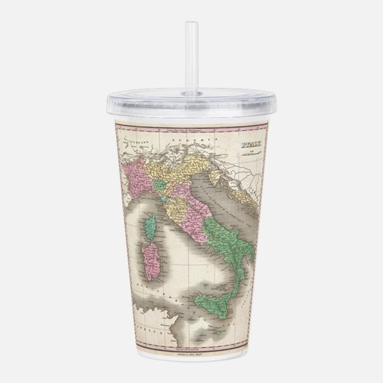 Vintage Map of Italy ( Acrylic Double-wall Tumbler