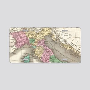 Vintage Map of Italy (1827) Aluminum License Plate