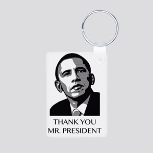 Thank you Mr. President Aluminum Photo Keychain