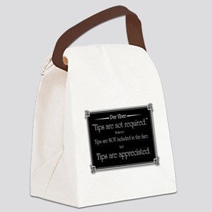 Uber sign black Canvas Lunch Bag