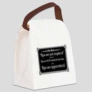 Uber sign black Canvas Lunch Bag