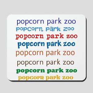 POPCORN PARK ZOO LETTERING. Mousepad
