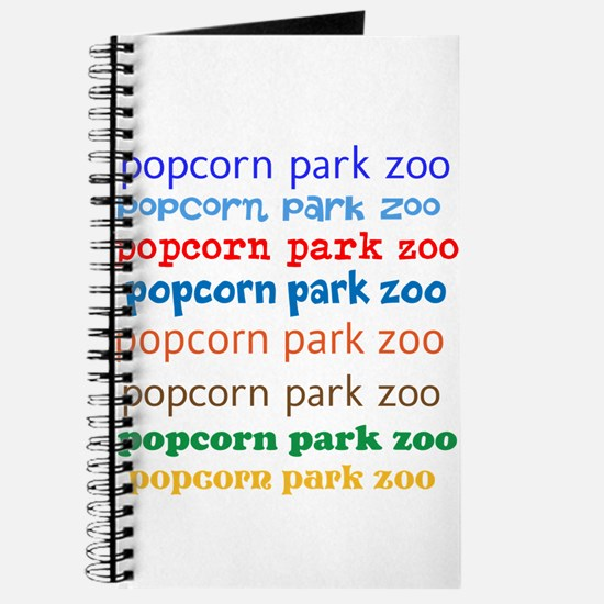 POPCORN PARK ZOO LETTERING. Journal