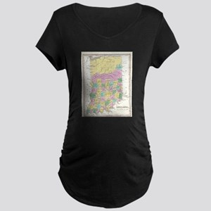 Vintage Map of Indiana (1827) Maternity T-Shirt