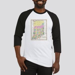 Vintage Map of Indiana (1827) Baseball Jersey