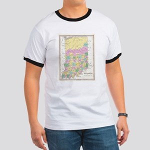 Vintage Map of Indiana (1827) T-Shirt