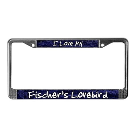 Funky Love Fischer's Lovebird License Plate Frame