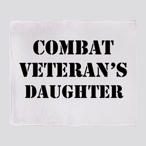 Combat Vet's Daughter Throw Blanket