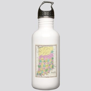 Vintage Map of Indiana Stainless Water Bottle 1.0L