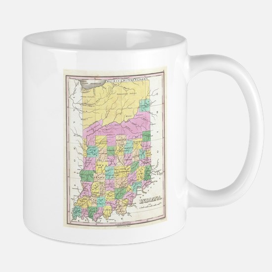 Vintage Map of Indiana (1827) Mugs