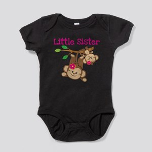 Monkeys Little Sister w Big Sis Baby Bodysuit