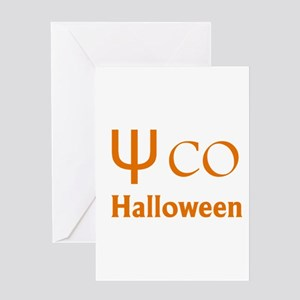 Psycho Halloween, Greek Letter Greeting Cards