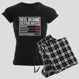 Diesel Mechanic Repair Rates Women's Dark Pajamas