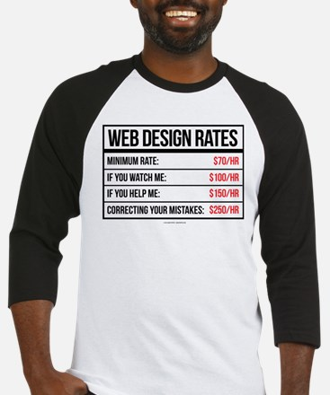 Web Design Rates Baseball Jersey