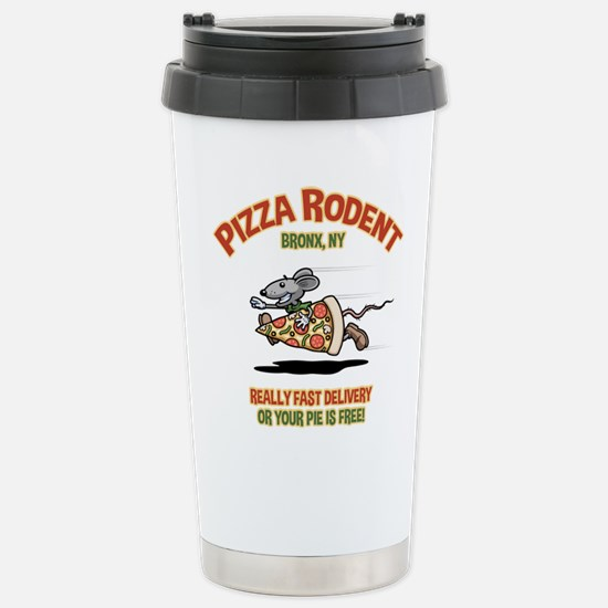 Pizza Rodent Stainless Steel Travel Mug
