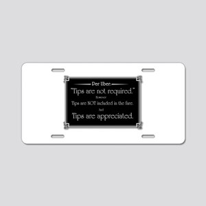Uber sign black Aluminum License Plate