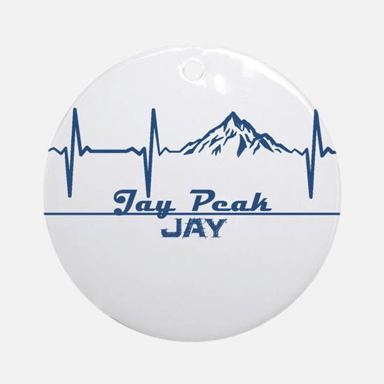 Jay Peak Resort - Jay - Vermont Round Ornament