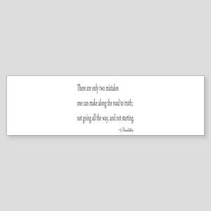 Buddha's Wisdom Bumper Sticker
