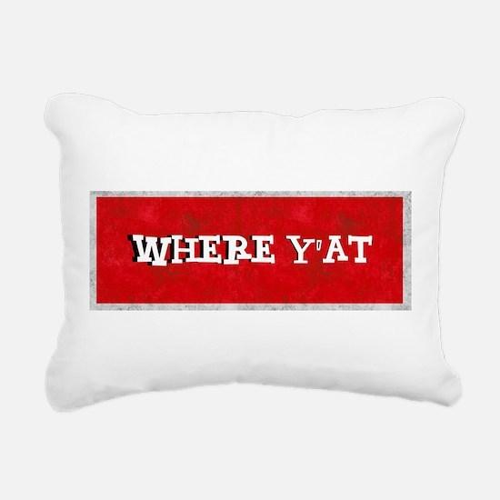 where YAT Rectangular Canvas Pillow