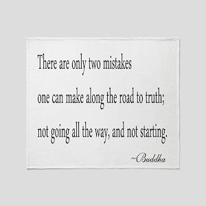 Buddha's Wisdom Throw Blanket