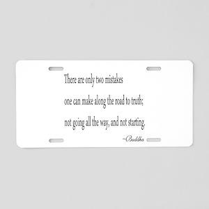 Buddha's Wisdom Aluminum License Plate
