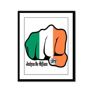 Irish Fist 1879 Framed Panel Print
