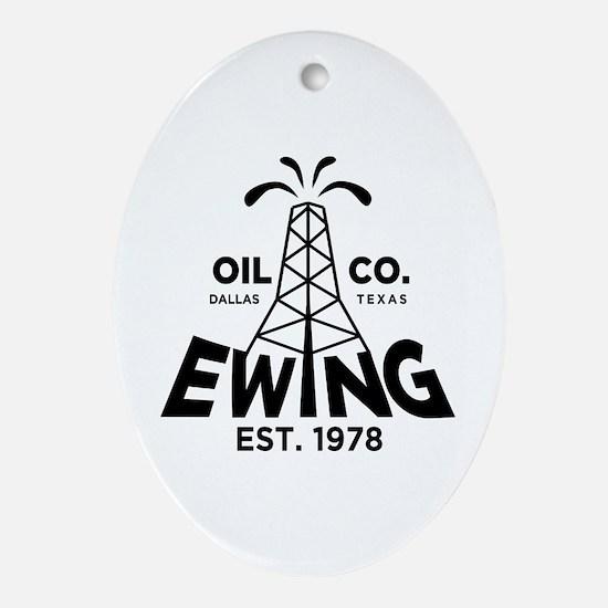 Dallas TV Oval Ornament