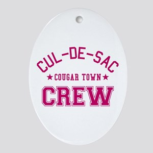 Cougar Town Oval Ornament