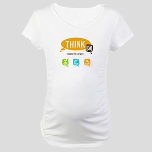 Think CA Logo Maternity T-Shirt