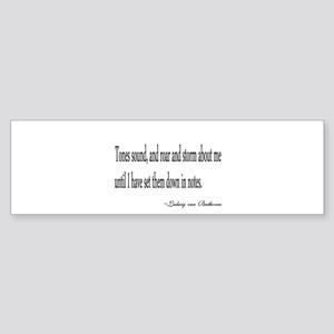 The mind of a Musician Bumper Sticker