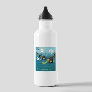 Migrating Reggae Birds Water Bottle