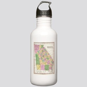 Vintage Map of Georgia Stainless Water Bottle 1.0L